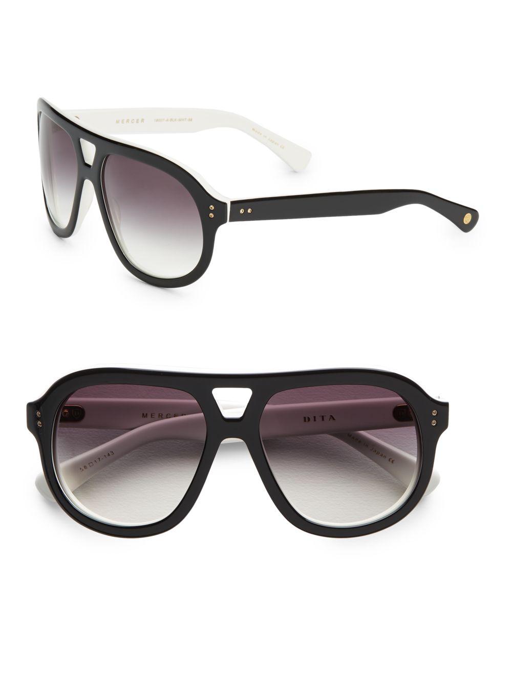 64a45a074a4d Lyst - Dita Eyewear Mercer Acetate Aviator Sunglasses in Gray
