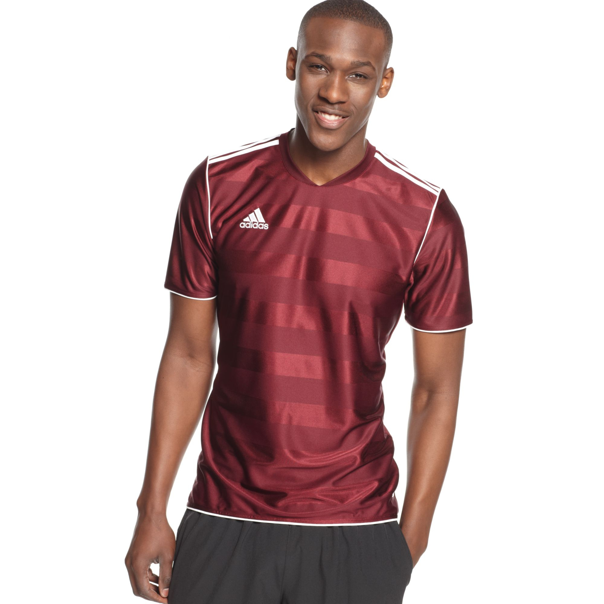 adidas T Shirt Tabela 11 Climalite Soccer Jersey in Light Maroon ...