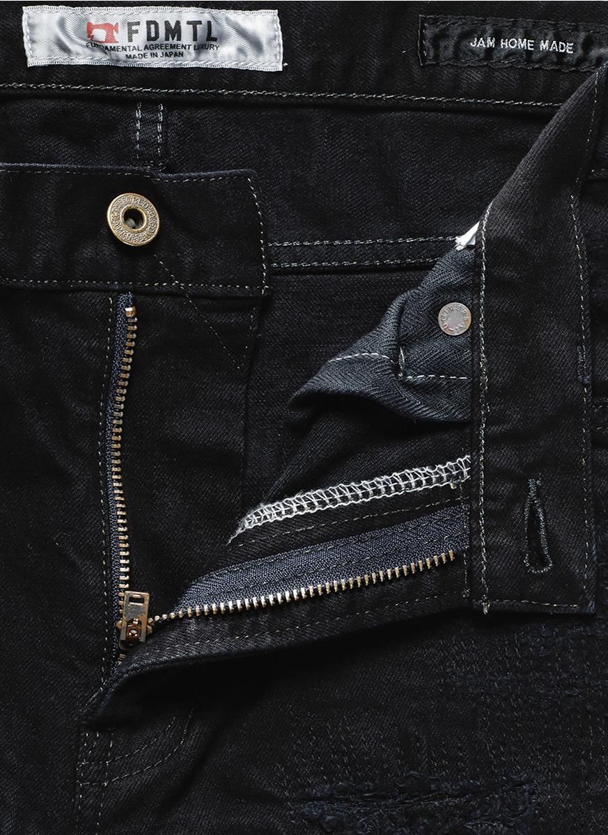 FDMTL X Jam Home Made Distressed Denim Jeans in Black for Men