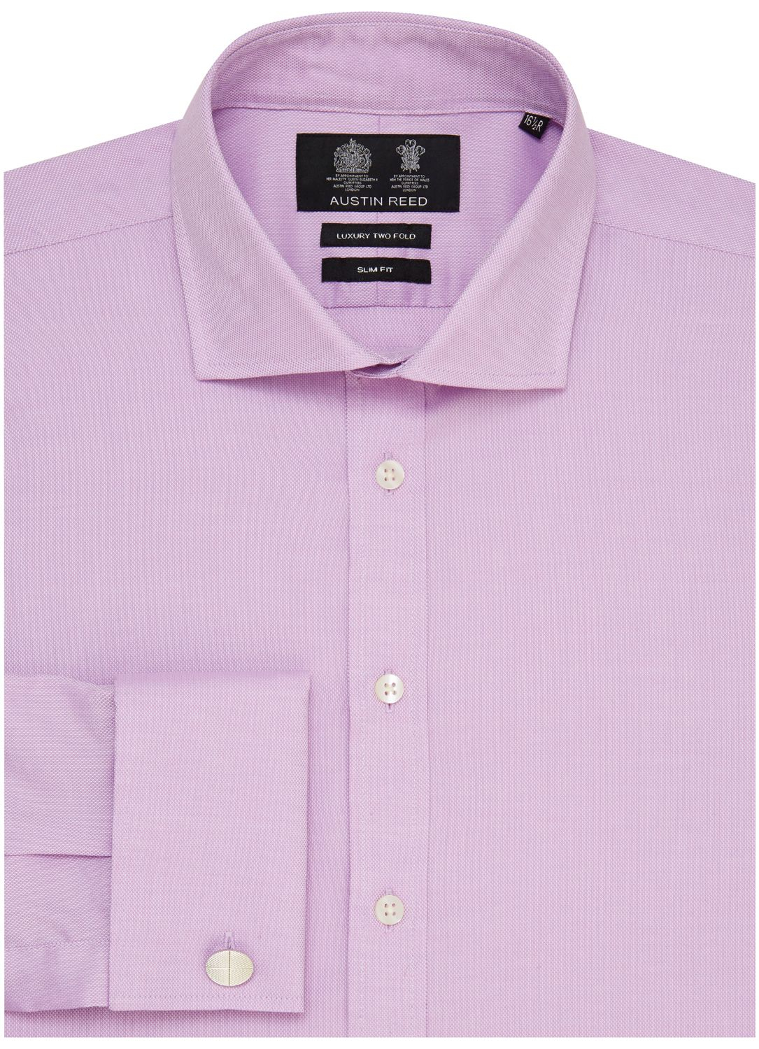 Austin Reed Slim Fit Two Fold Oxford Shirt in Lilac (Purple) for Men