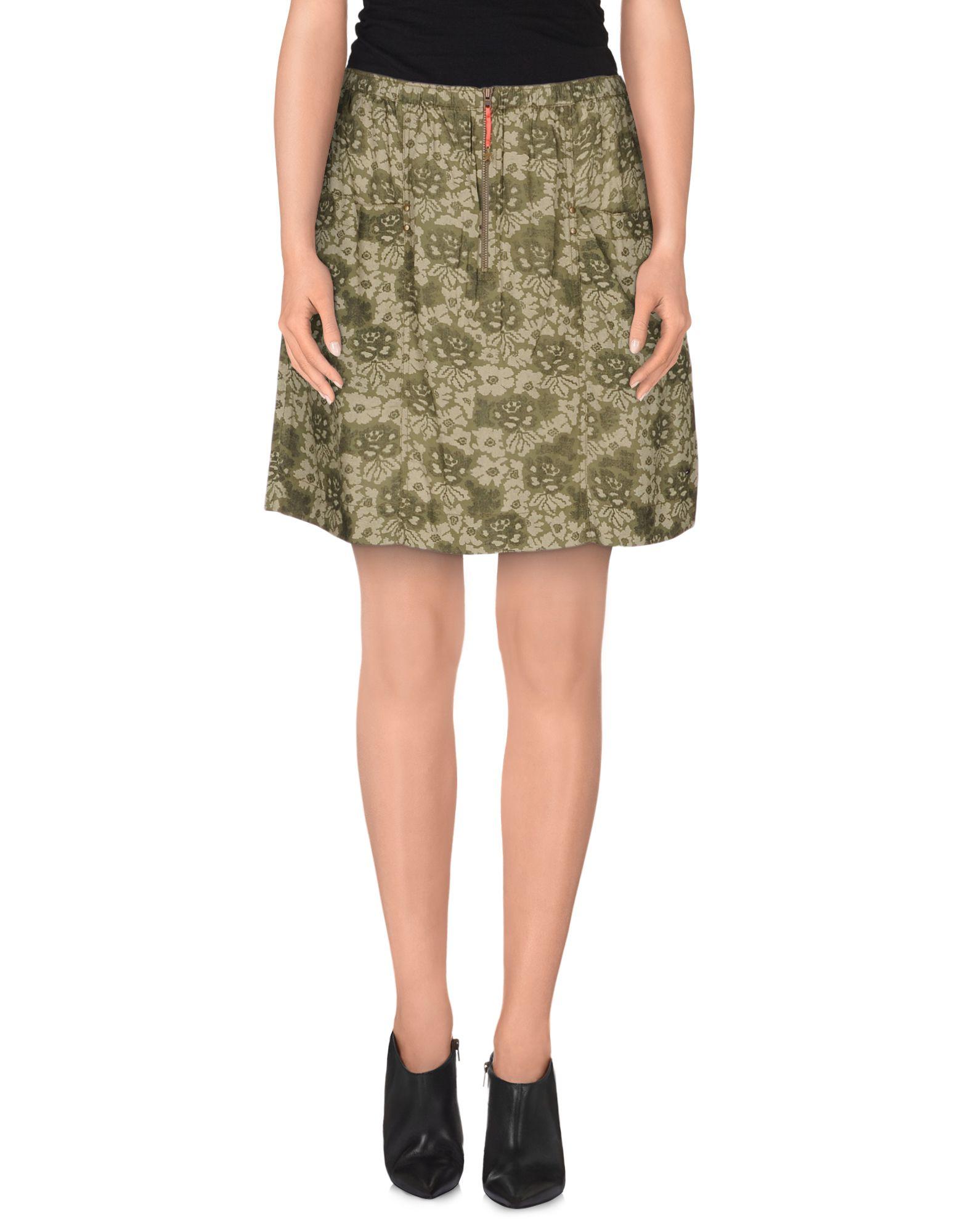 hilfiger denim mini skirt in green lyst