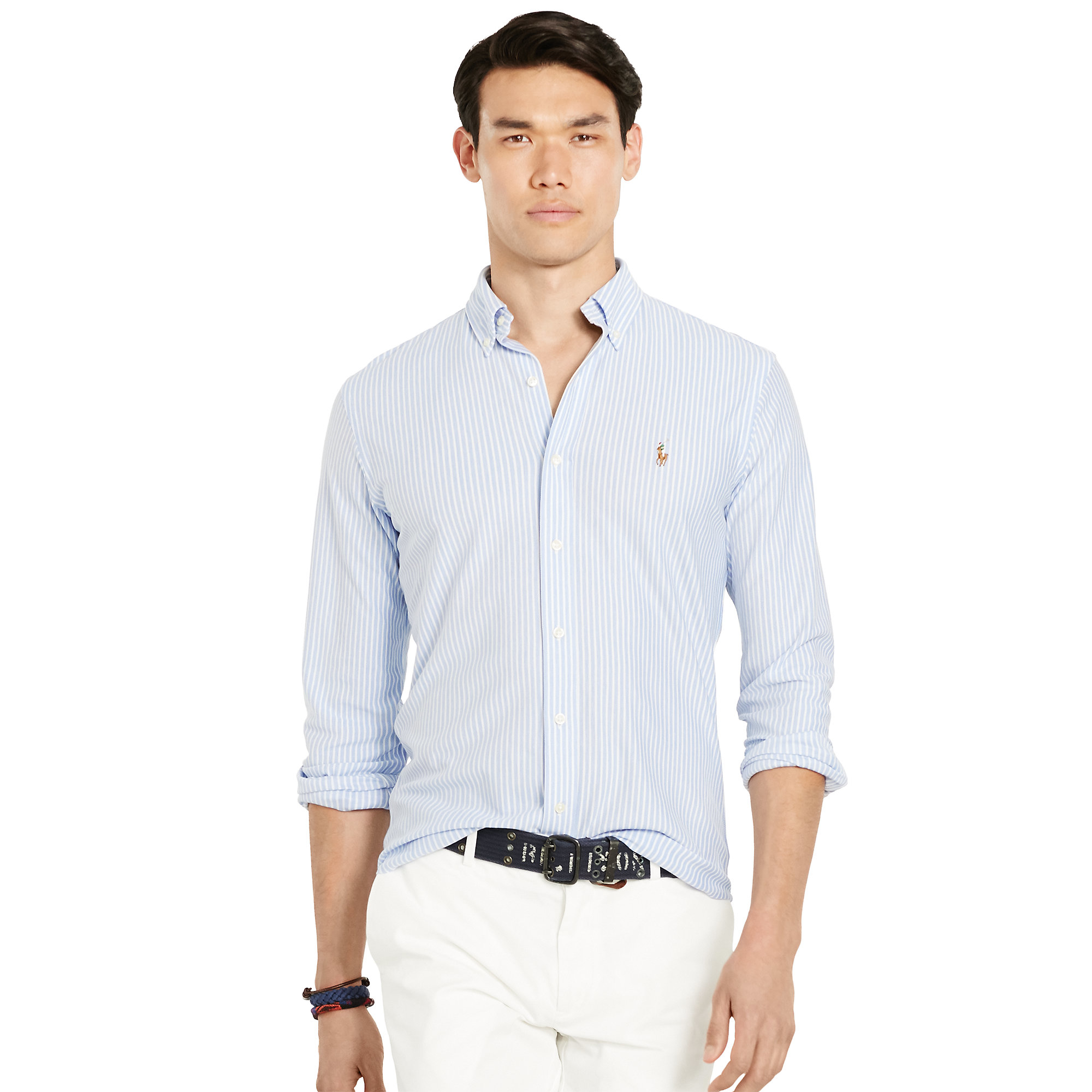 Polo Ralph Lauren Knit Oxford Shirt Slim Fit Button Down ...