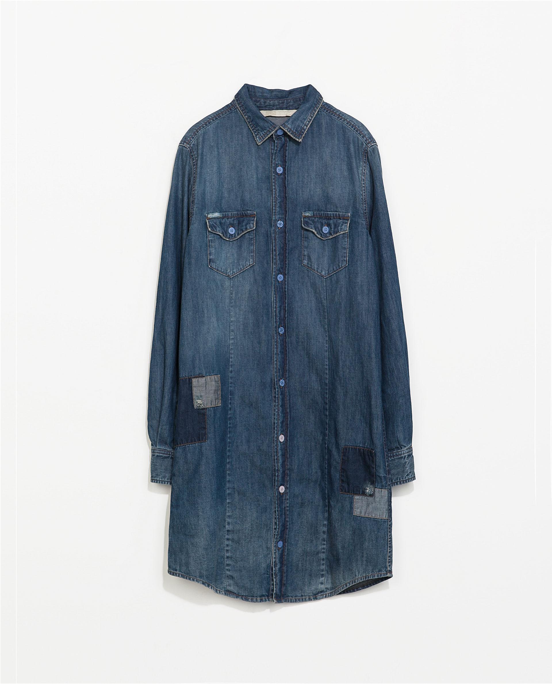Zara Denim Shirt Dress images