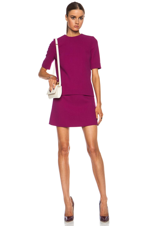Lyst Victoria Victoria Beckham Tux Stripe Combo Wool