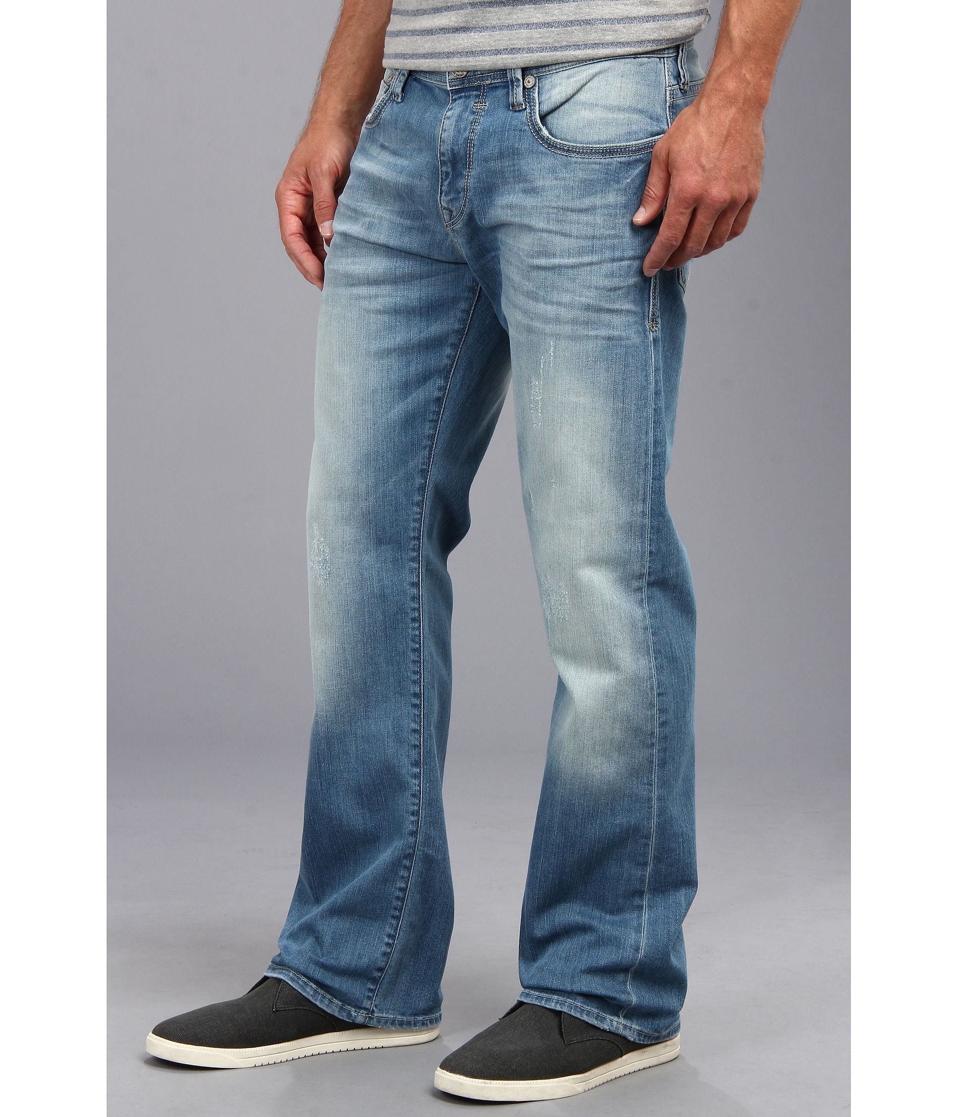 Mavi jeans Josh Regular Rise Bootcut in Mid Utah in Blue for Men ...