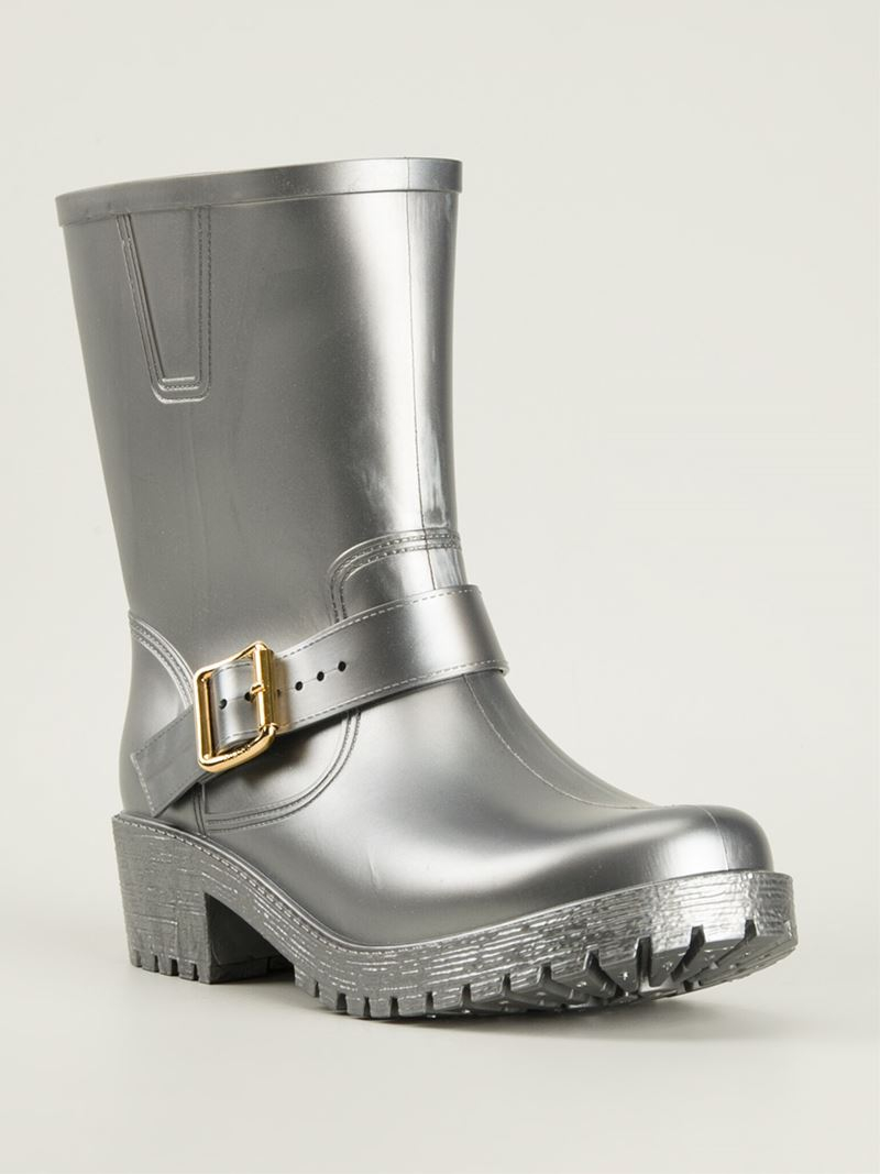 Marc By Marc Jacobs Buckled Wellington Boots in Grey (Grey)