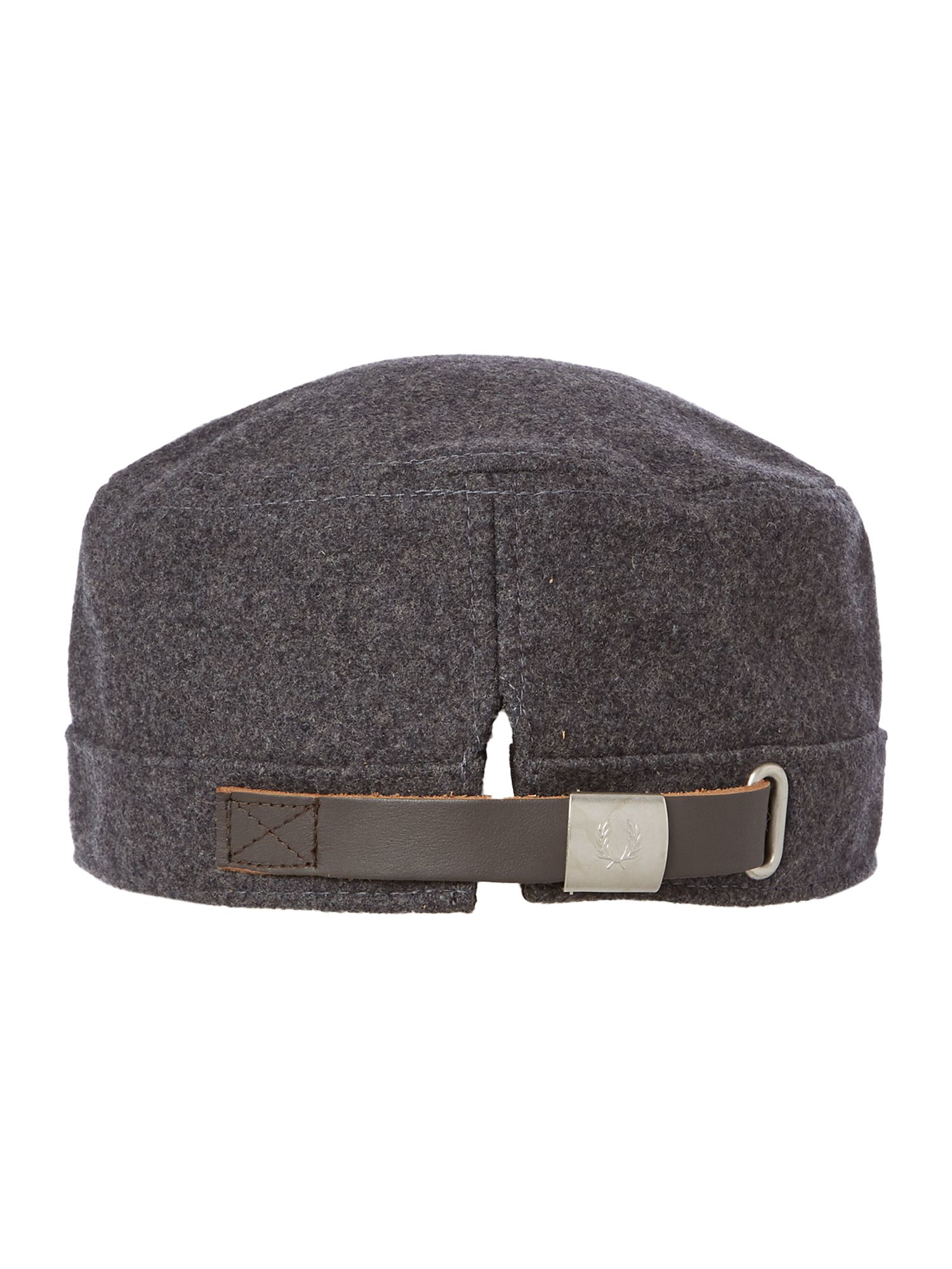 fred perry boiled wool train driver cap in gray for men lyst. Black Bedroom Furniture Sets. Home Design Ideas