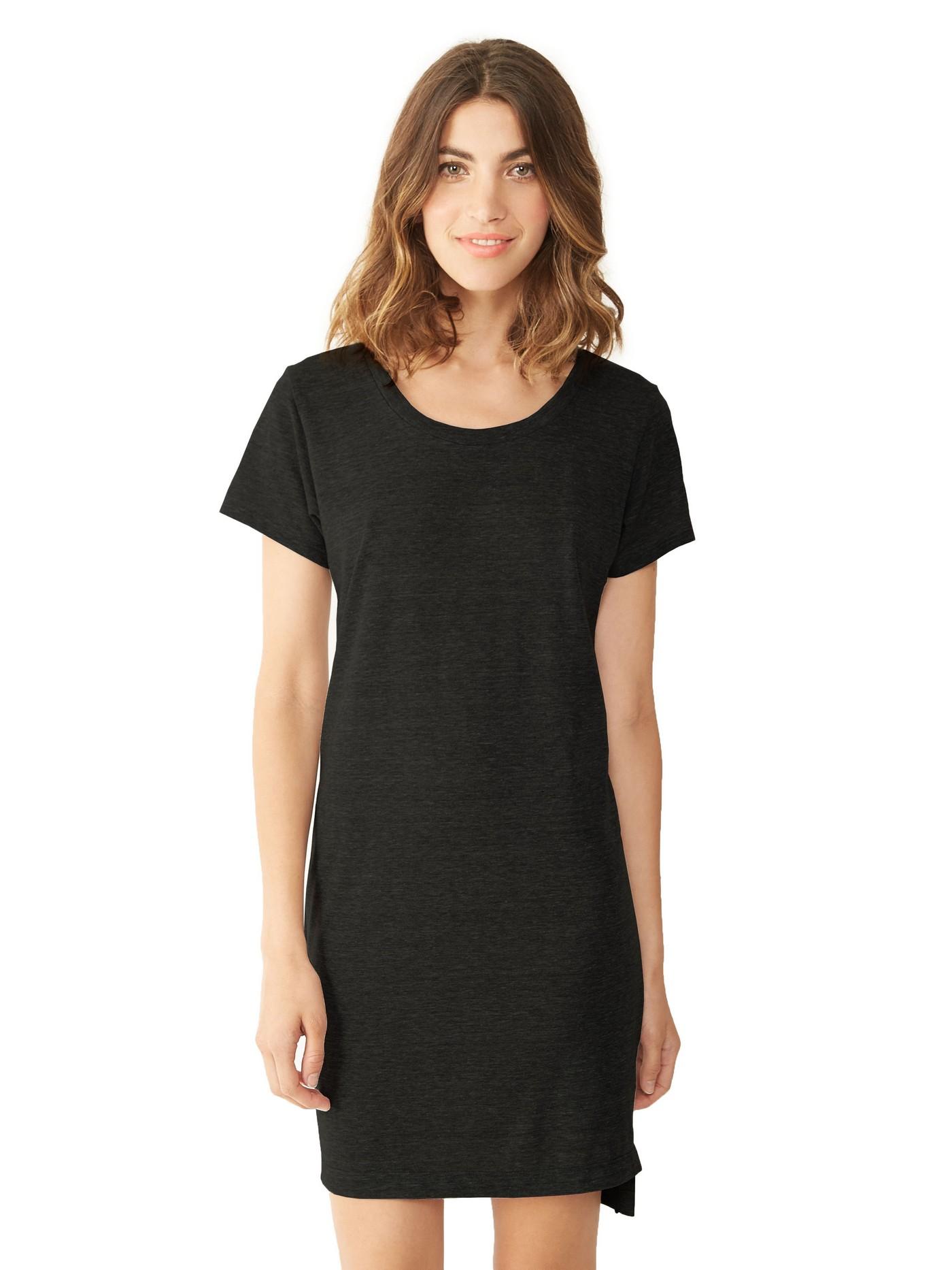 alternative apparel eco jersey t shirt dress in black lyst