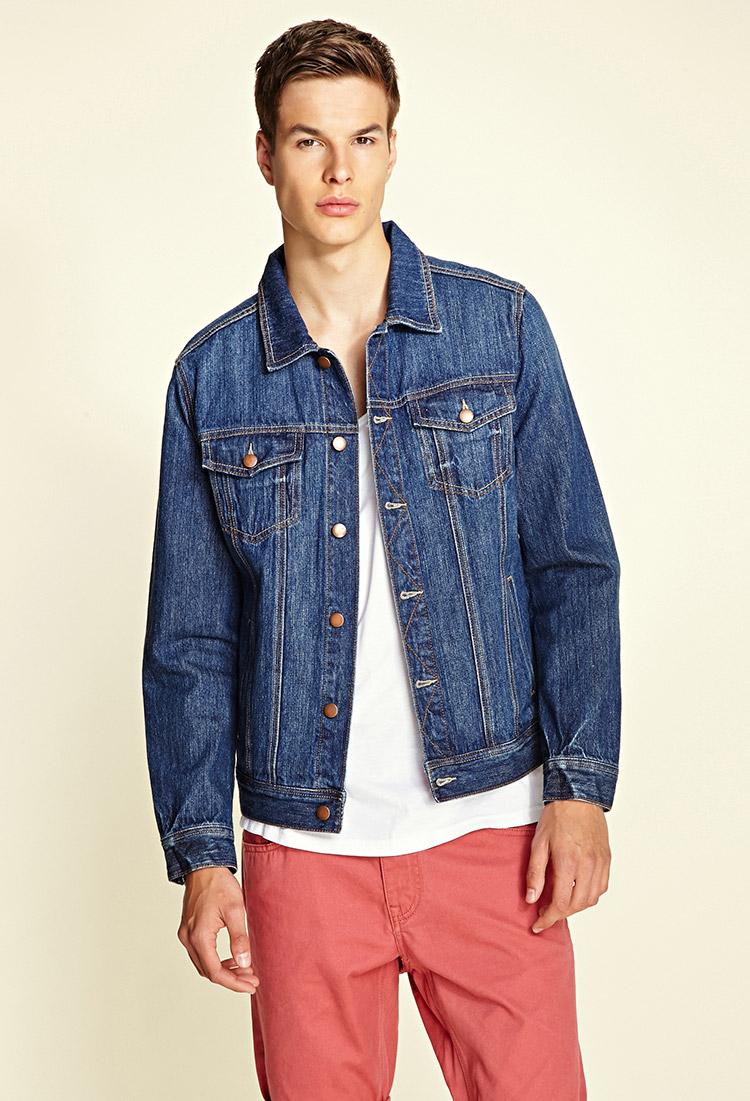 lyst forever 21 classic denim jacket in blue for men