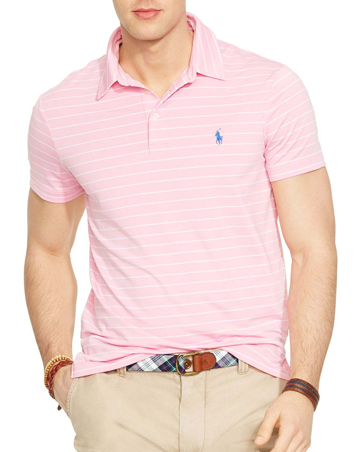 Pink and white striped shirt mens custom shirt for Mens red and white striped dress shirt