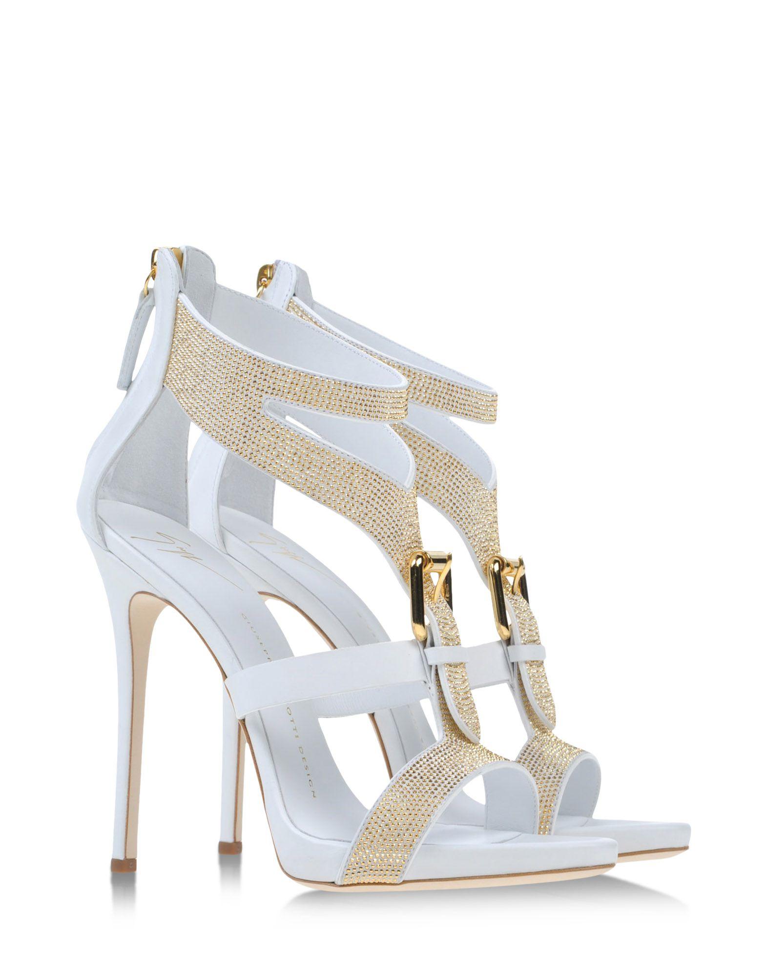 giuseppe zanotti sandals in white lyst