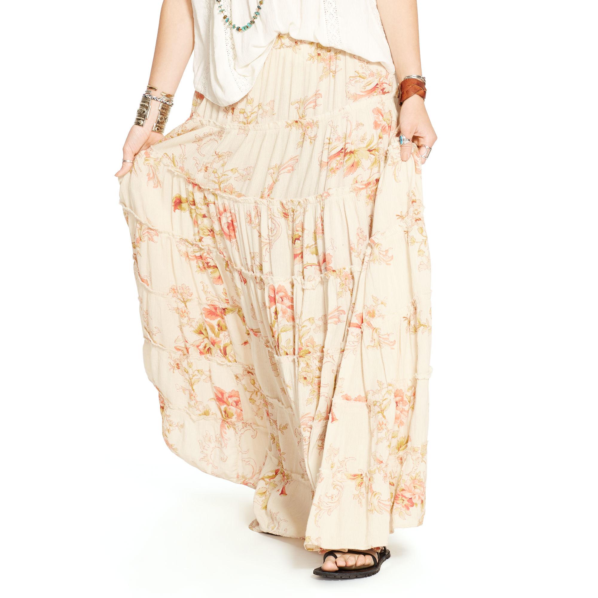 850d7fd399 Denim & Supply Ralph Lauren Floral-print Tiered Maxiskirt - Lyst