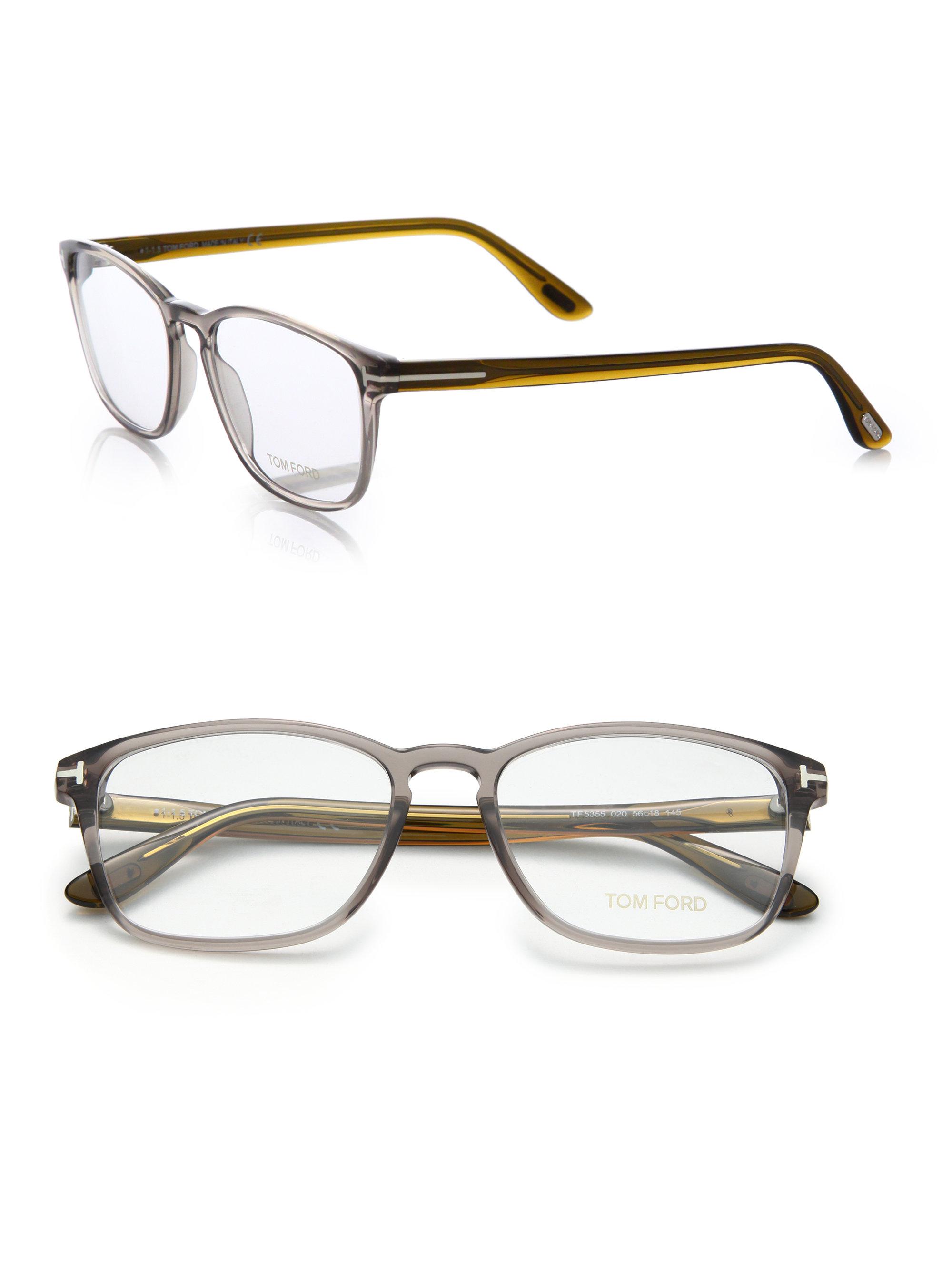 Tom ford Square Optical Frames in Gray for Men Lyst