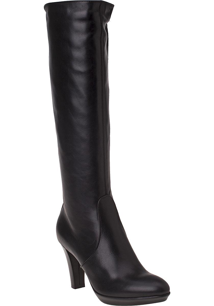aquatalia roxie black leather boots in black lyst