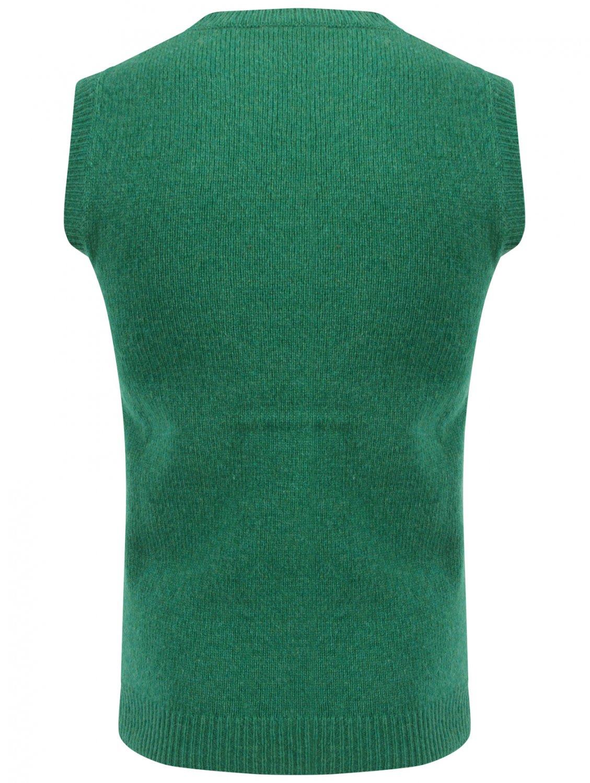 Raf Simons Slim Felted Knit Jacquard Vest Green/black for Men