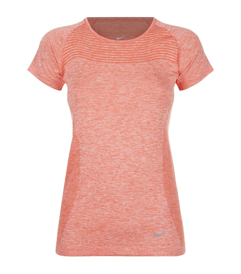 Nike dri fit t shirt in orange lyst for Dri fit t shirt design
