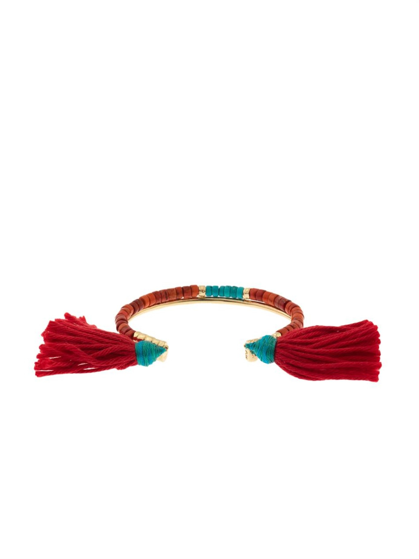 Aurelie Bidermann Sioux Coral, Bamboo & Gold-Plated Cuff in Pink