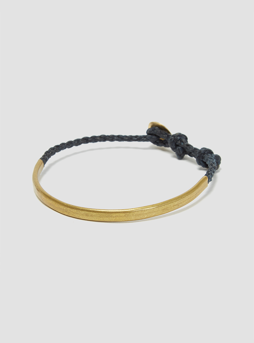 Scosha brass hand forged bracelet denim in blue for men lyst