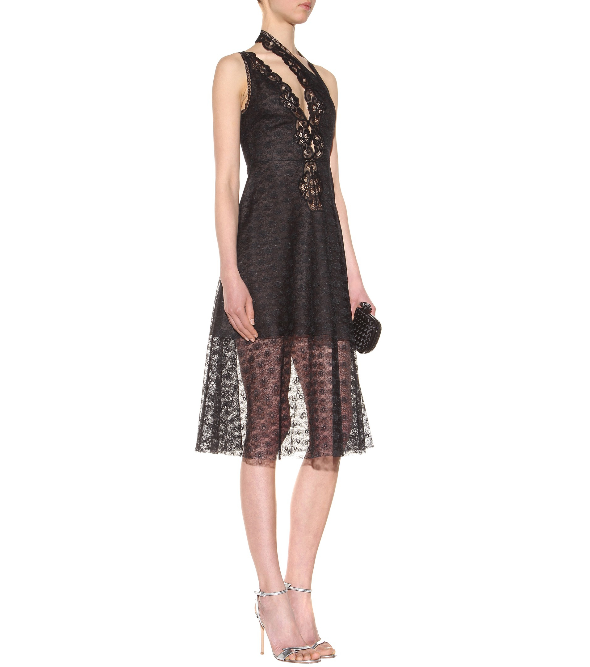 Stella Mccartney Woman Picot-trimmed Embroidered Cotton-blend Lace Midi Dress Red Size 40 Stella McCartney Top Quality Online BbVVshx0