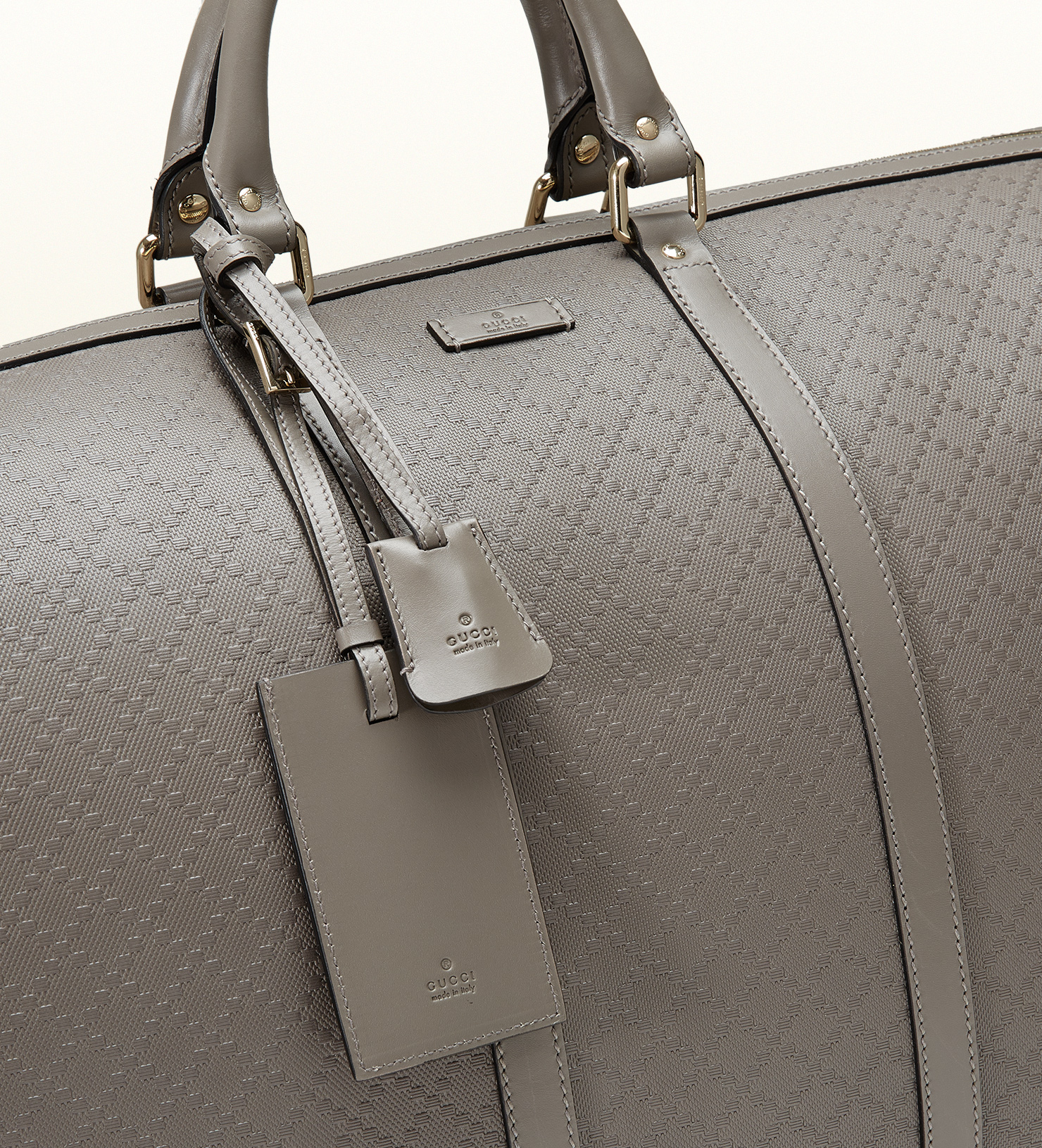 610200c886a7 Gucci Bright Diamante Leather Carry-on Duffle Bag in Gray for Men - Lyst