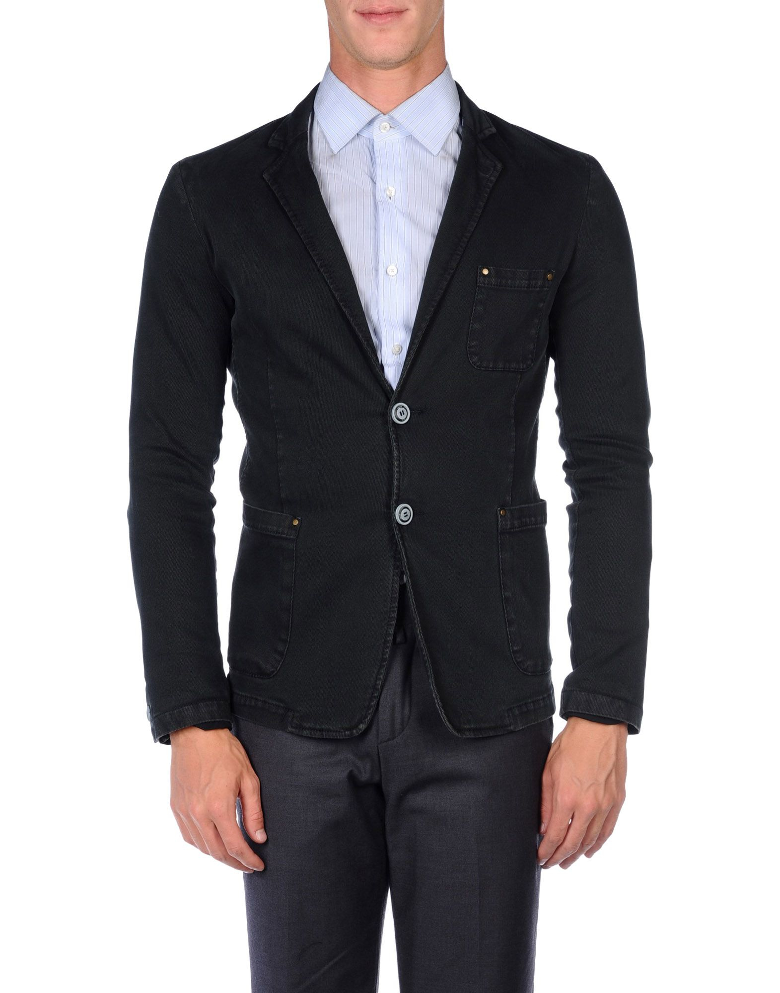 Armani jeans Blazer in Gray for Men (Steel grey) | Lyst