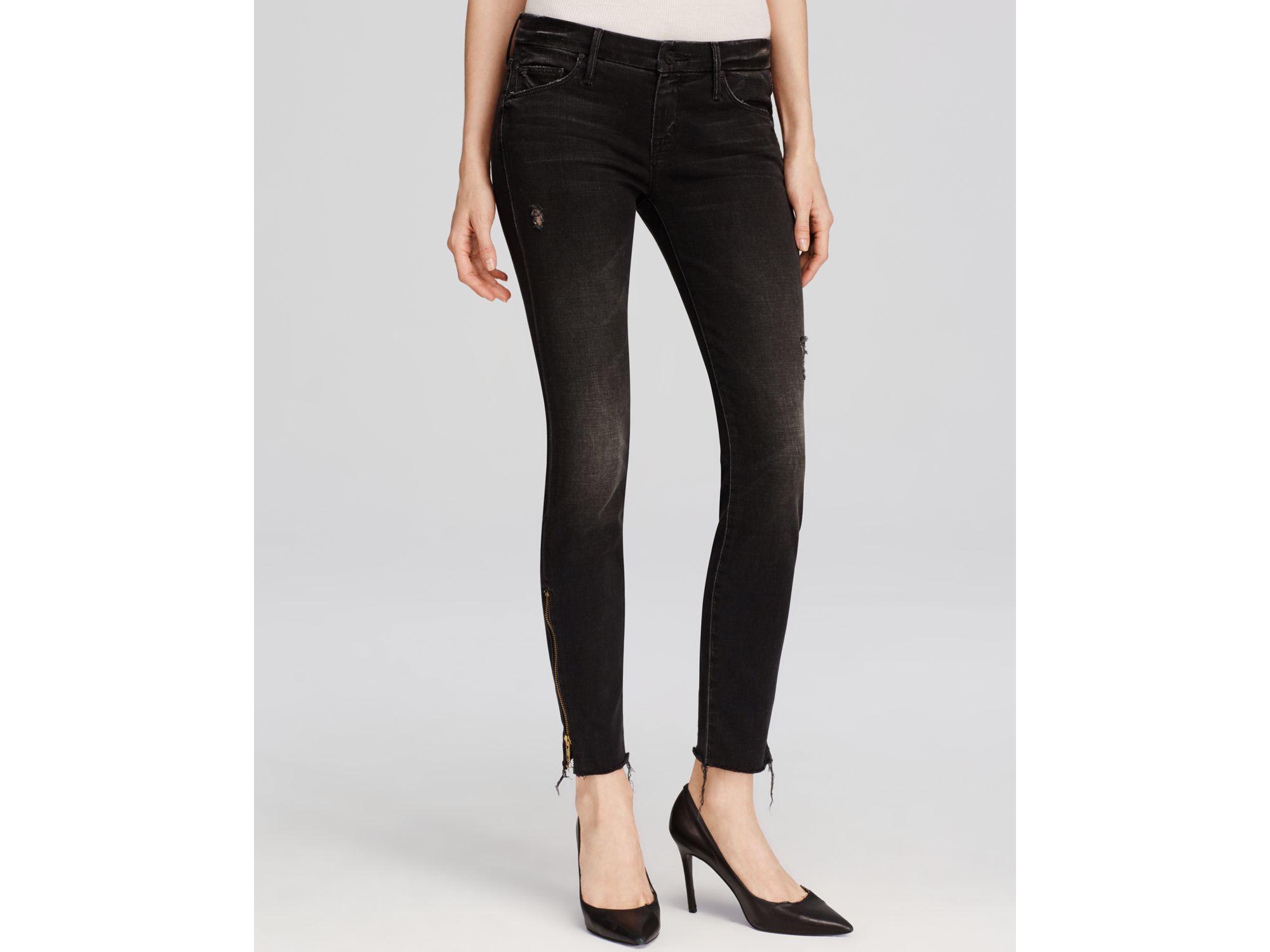 Looker Hauteur Moyenne De Jeans Skinny - Mère Denim Foncé Ft0dG