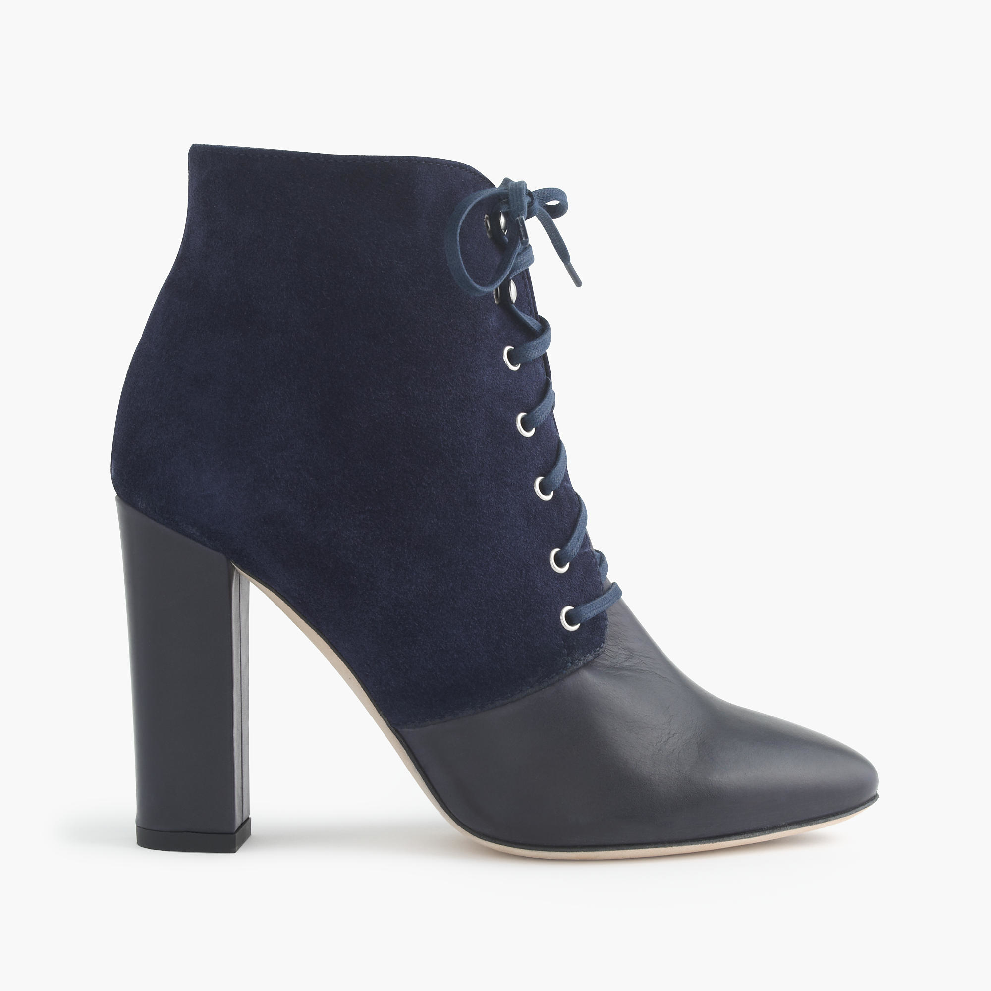 j crew adele suede lace up boots in blue lyst