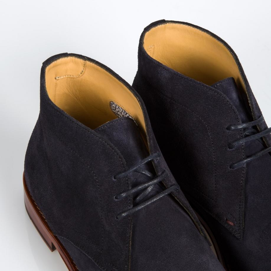 Paul Smith Mens Navy Suede morgan Desert Boots In Blue