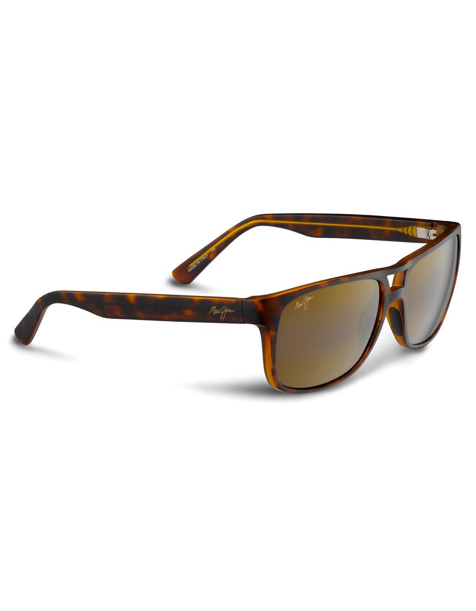 Maui Jim Waterways Polarized Wayfarer Sunglasses In Brown