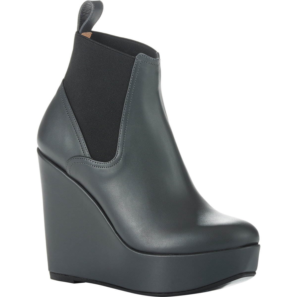 159b469ba950 Lyst - Robert Clergerie Fille Wedge Boots in Gray