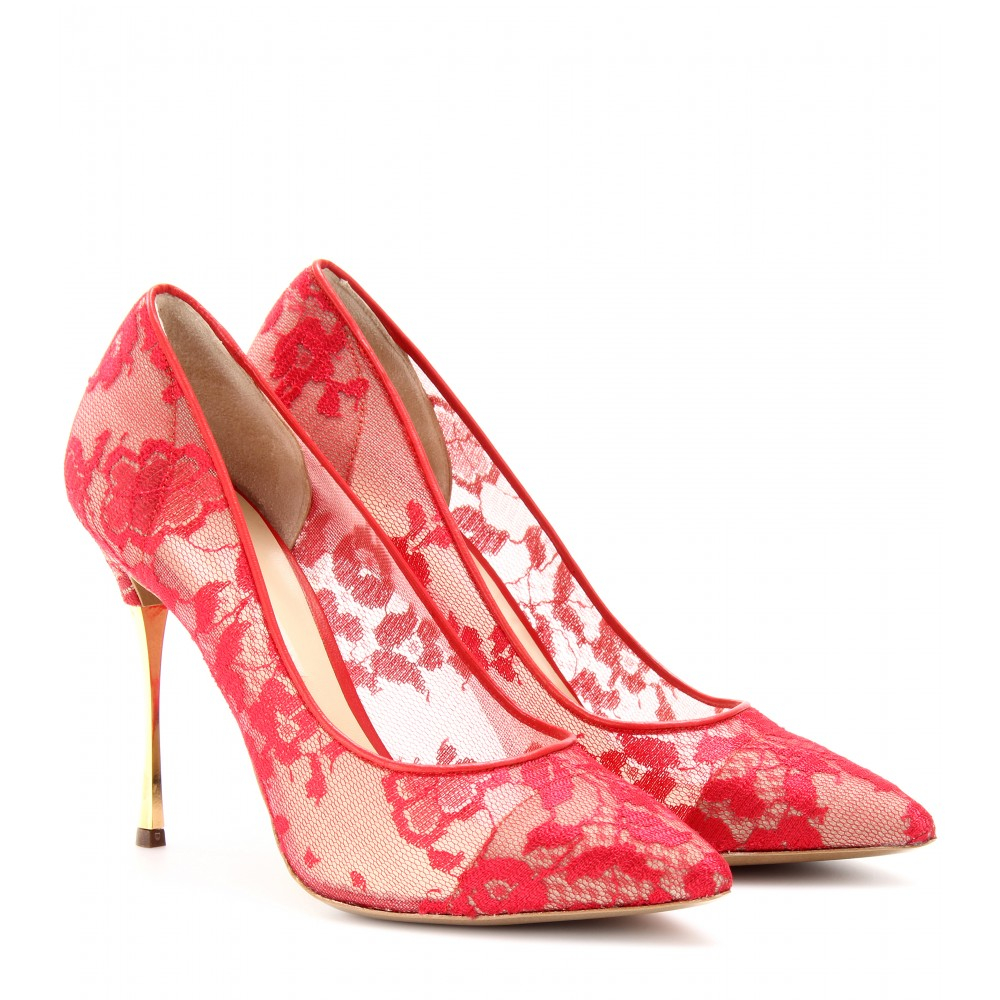 Red And Gold Shoes Lace