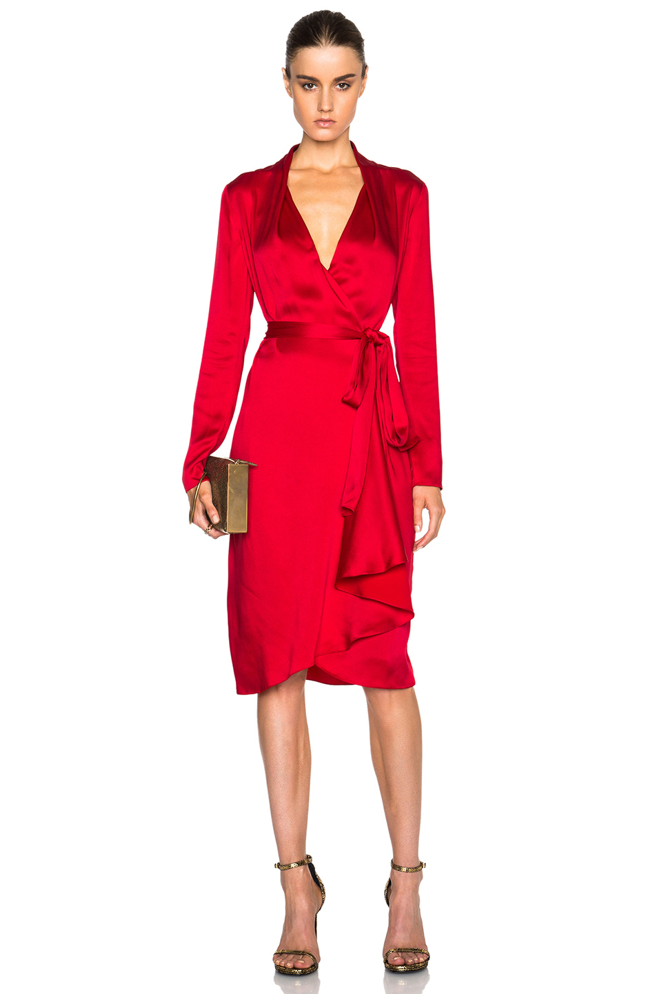 Lyst Lanvin Wrap Shirt Dress In Red