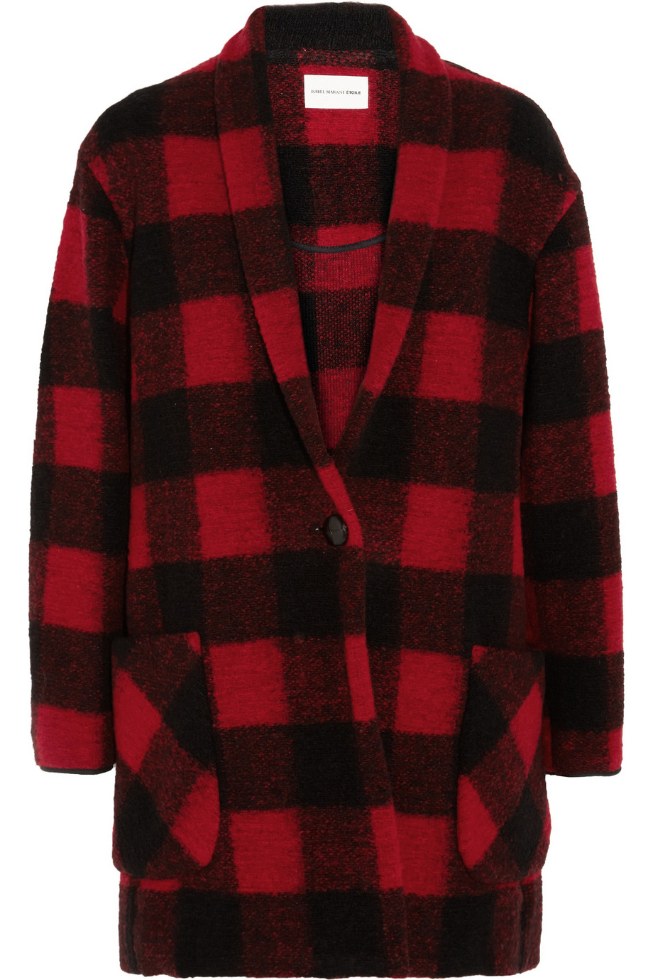 lyst toile isabel marant gabrie plaid woolblend coat in red. Black Bedroom Furniture Sets. Home Design Ideas
