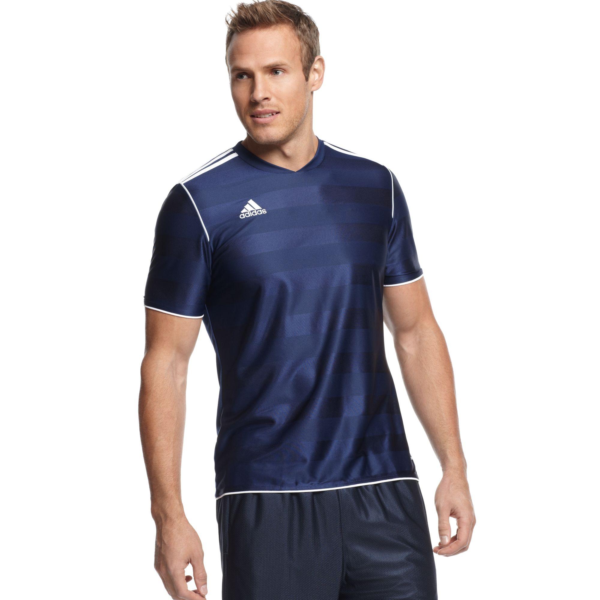 ADIDAS TABELA SHIRT Jersey Climalite Men's Sport Blue White