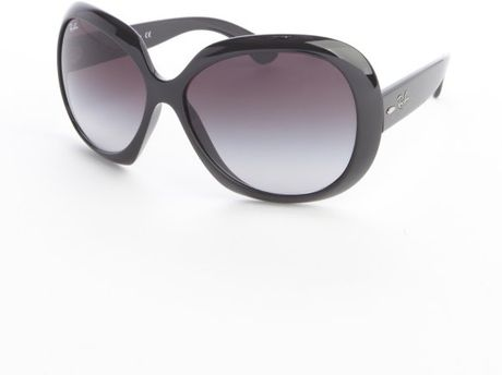 ray ban black jackie ohh ii round lens sunglasses in black. Black Bedroom Furniture Sets. Home Design Ideas