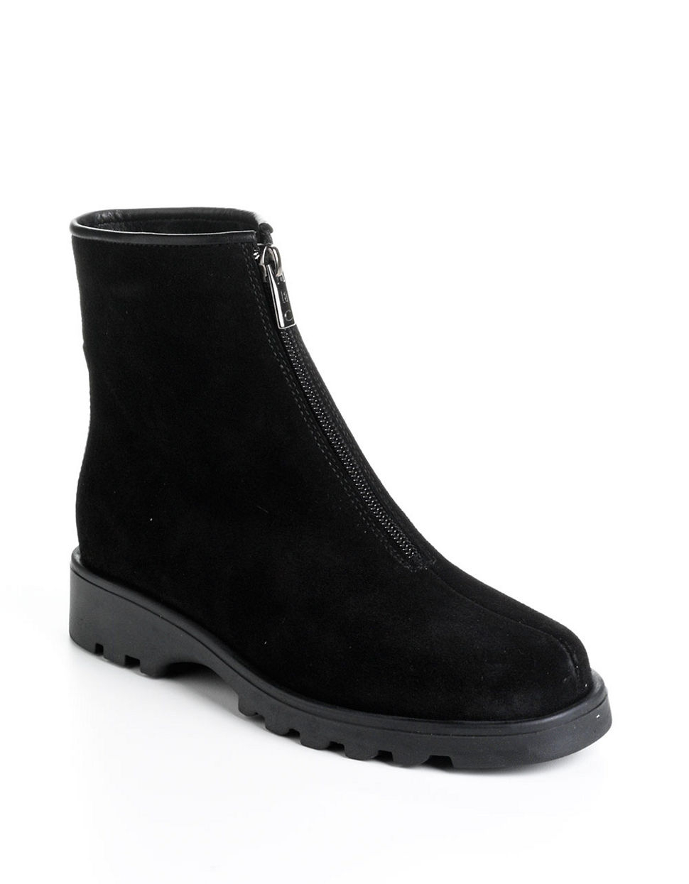 la canadienne kathy suede ankle boots in black lyst