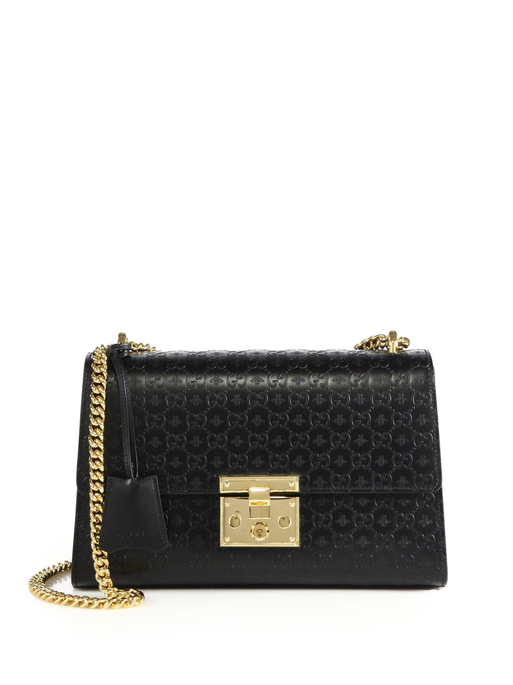 Gucci Padlock Gg Medium Leather Shoulder Bag in Black | Lyst