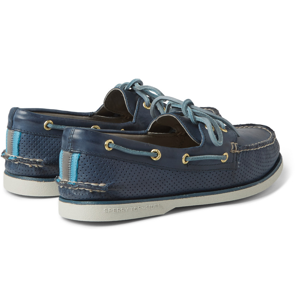 Sperry Blue Striped Shoes