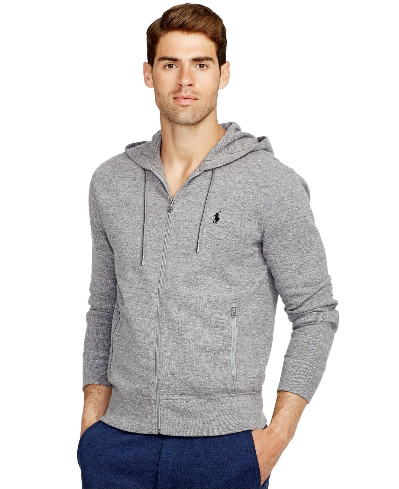 78486232277c2 ... canada lyst polo ralph lauren french rib full zip hoodie in gray for  men 8aed4 b77ba