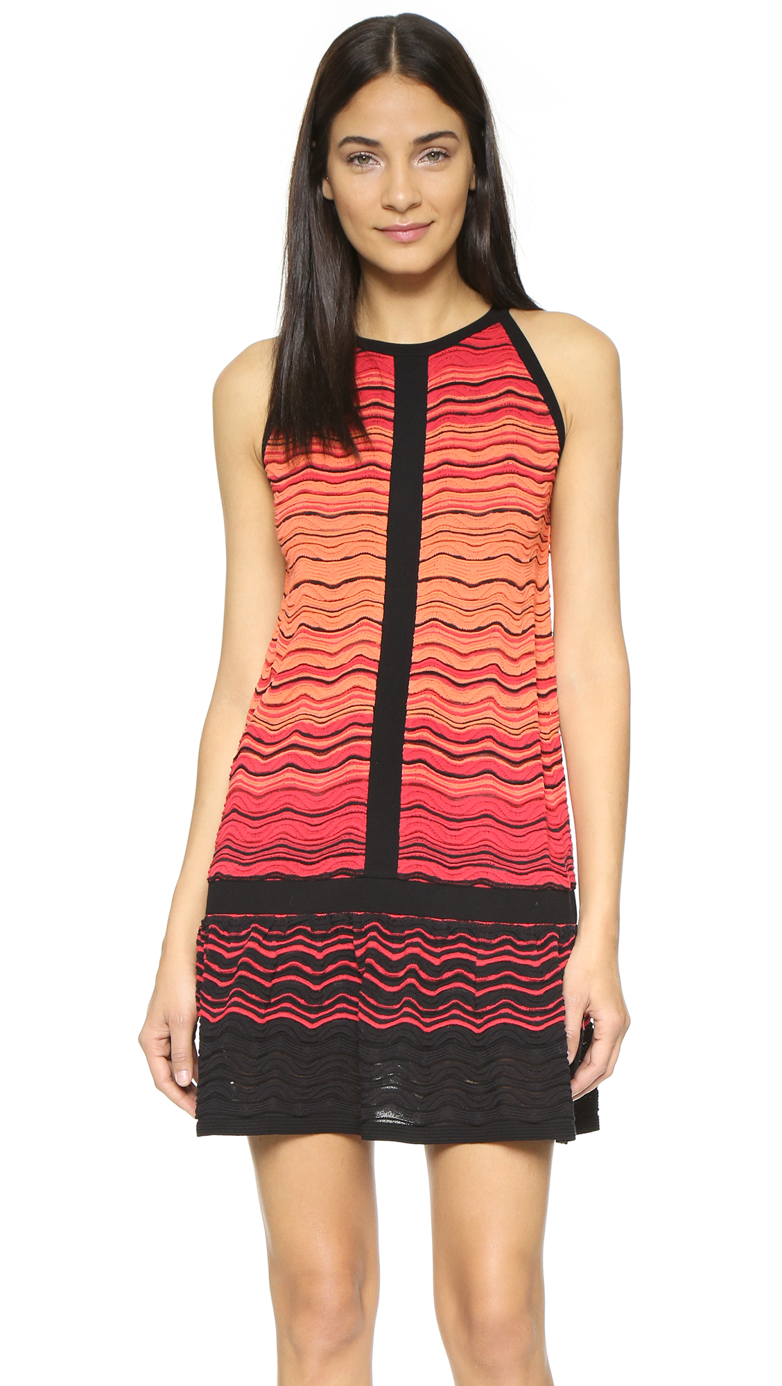 Lyst M Missoni Degrade Ripple Knit Dress Red In Red