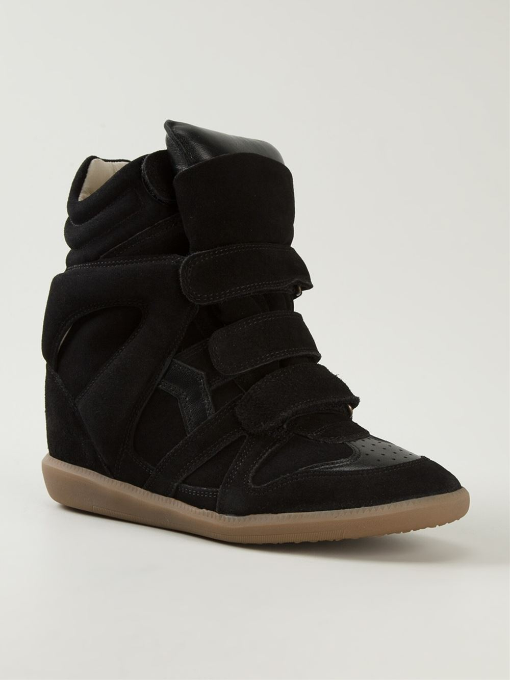 toile isabel marant toile 39 beckett 39 sneakers in black lyst. Black Bedroom Furniture Sets. Home Design Ideas