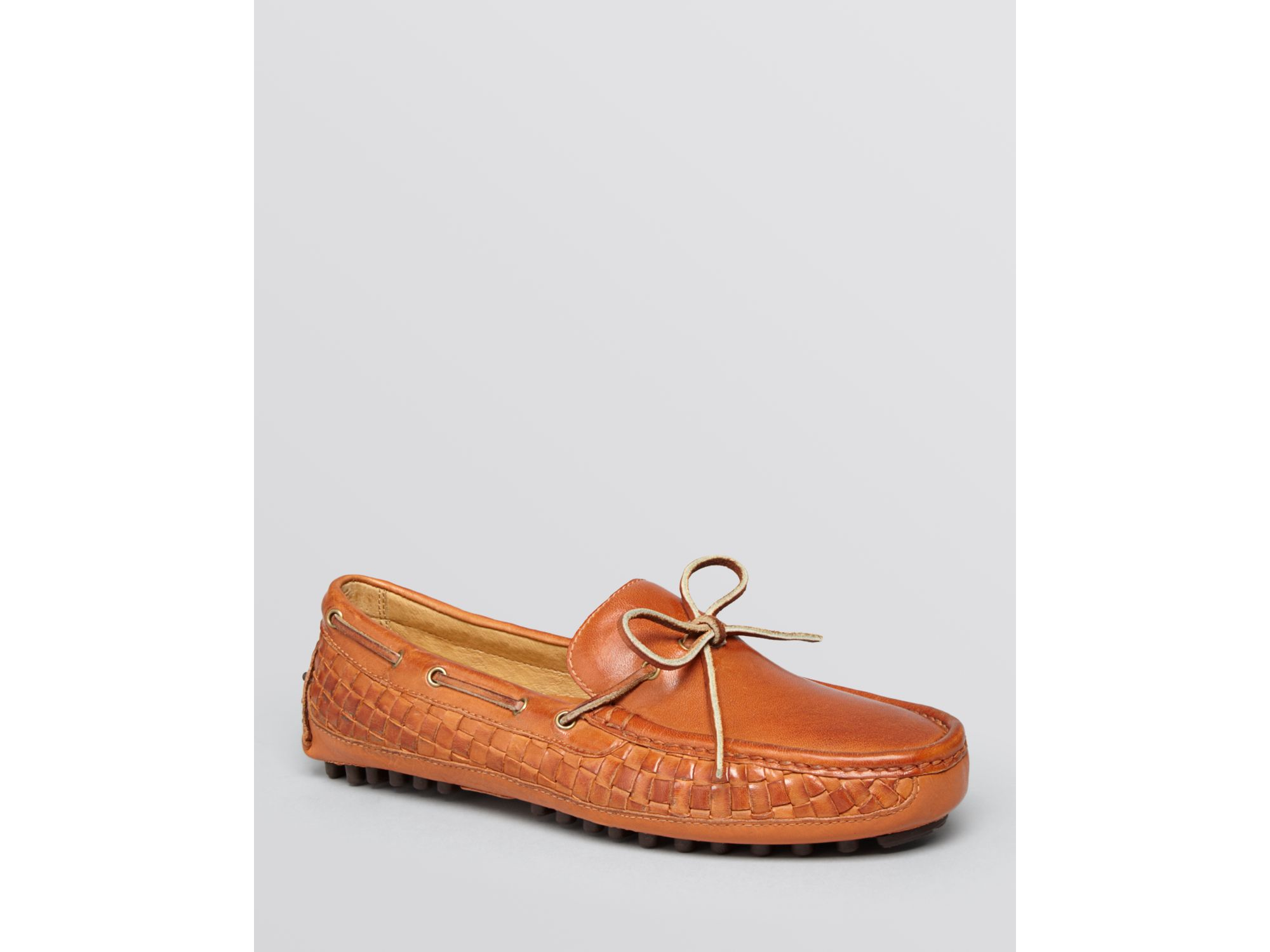 b5bf4bd1eab5f Lyst - Cole Haan Grant Camp Woven Leather Moc Driving Loafers in ...