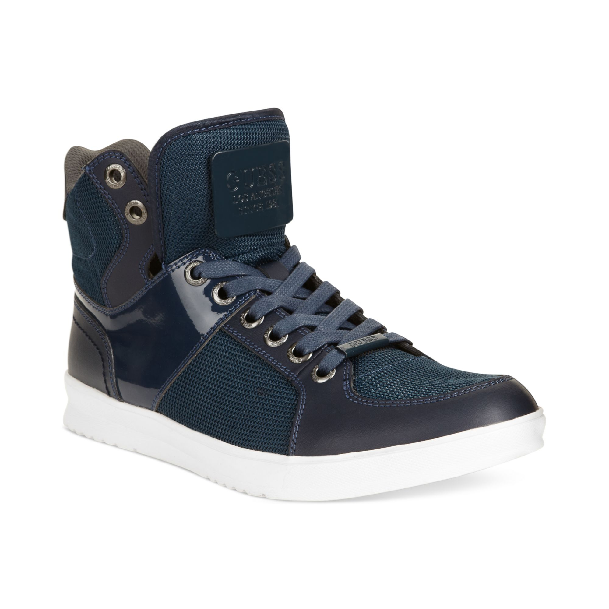 guess mens shoes trippy5 sneakers in blue for cobalt