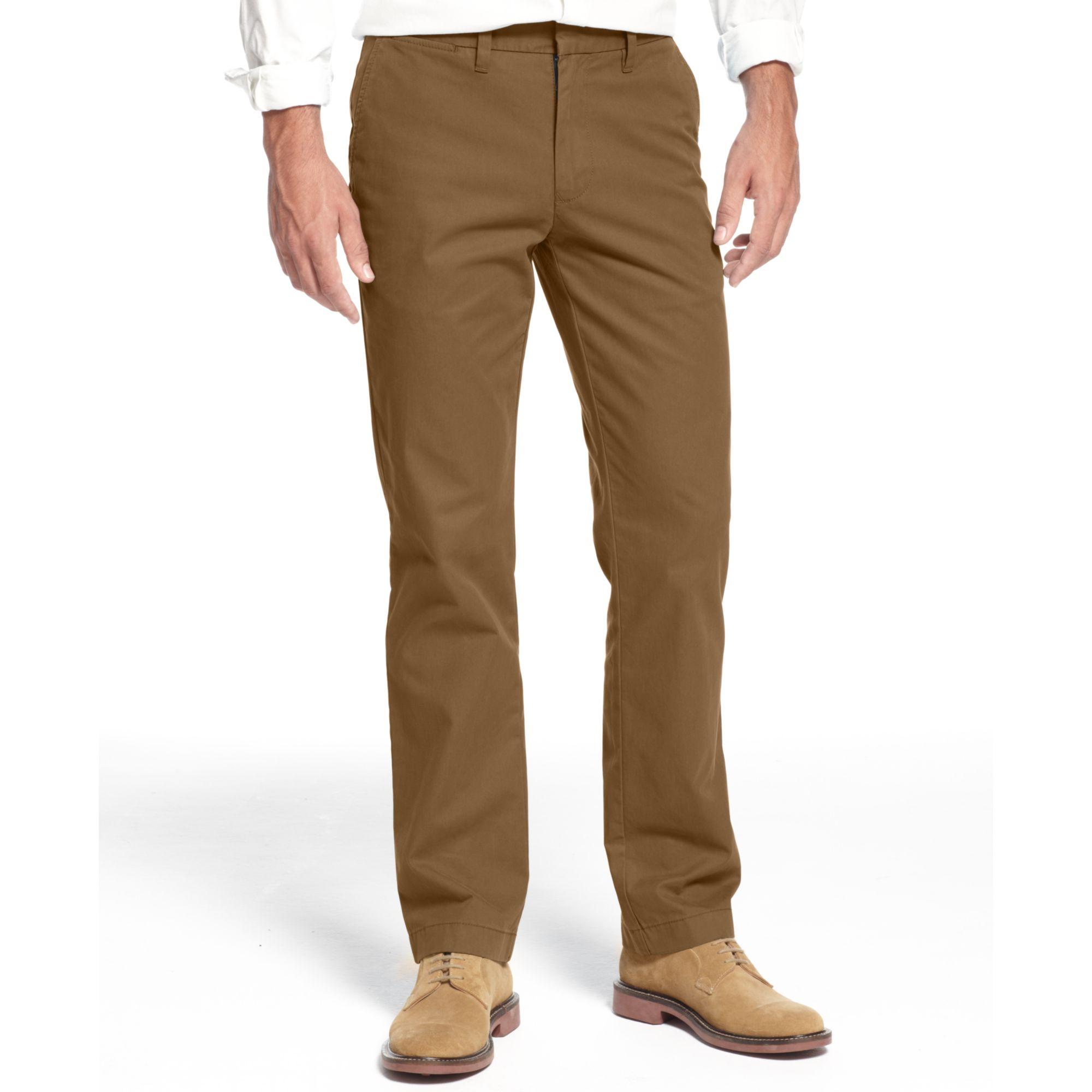 tommy hilfiger mercer customfit chino pants in brown for. Black Bedroom Furniture Sets. Home Design Ideas