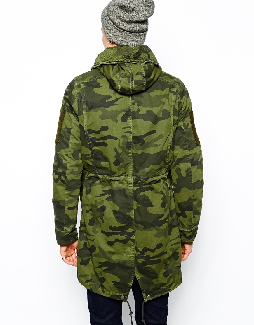 g star raw parka polar rani in green for men lyst. Black Bedroom Furniture Sets. Home Design Ideas