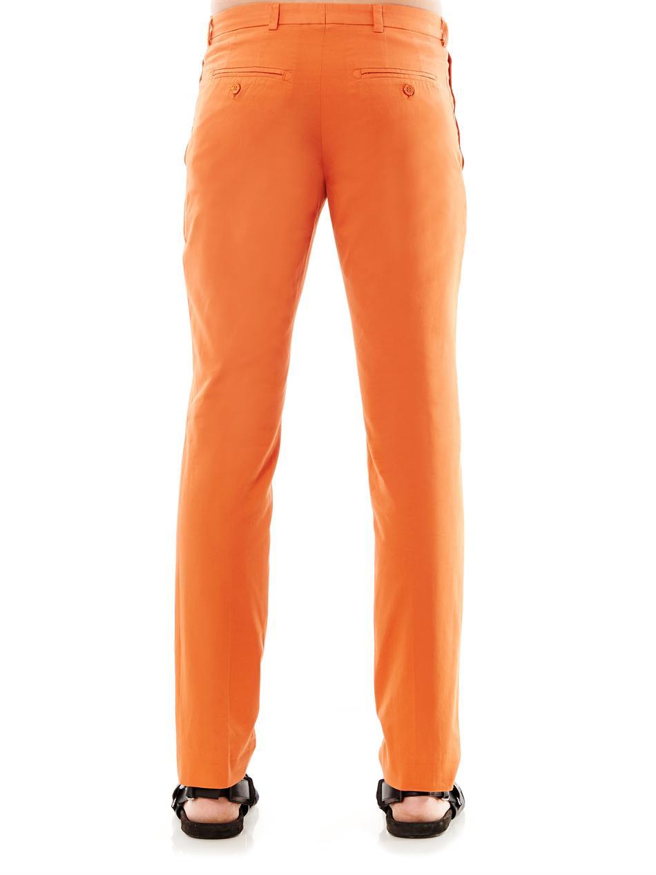 Carven Slim-Fit Chinos in Orange for Men