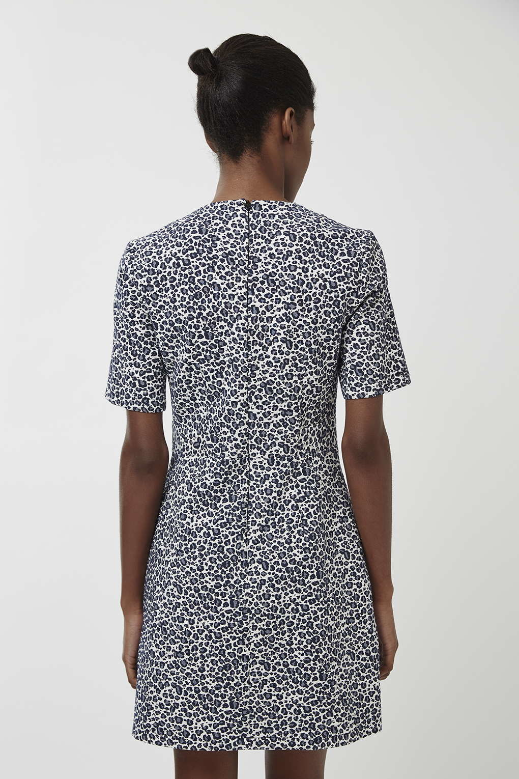 TOPSHOP  60s Animal Shift Dress in Blue - Lyst 841f52392