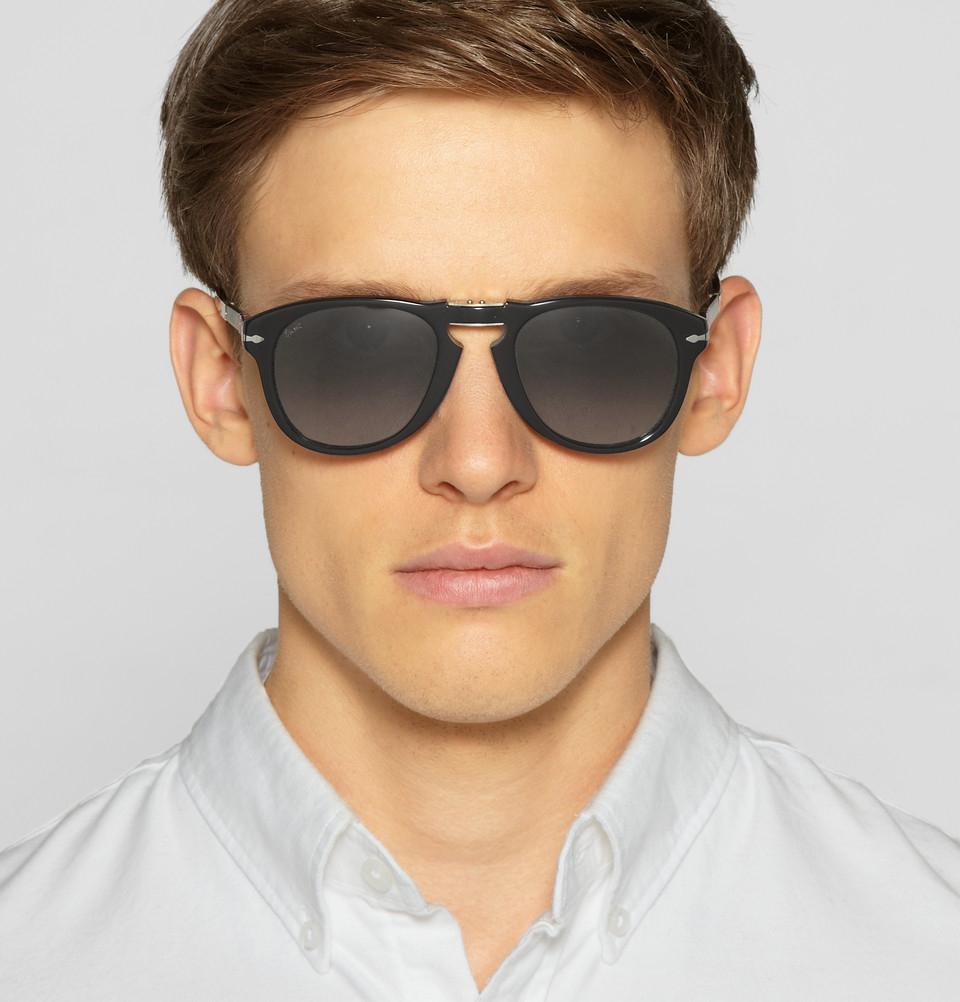 4592f13719 Lyst - Persol Steve Mcqueen Folding Acetate Sunglasses in Black for Men