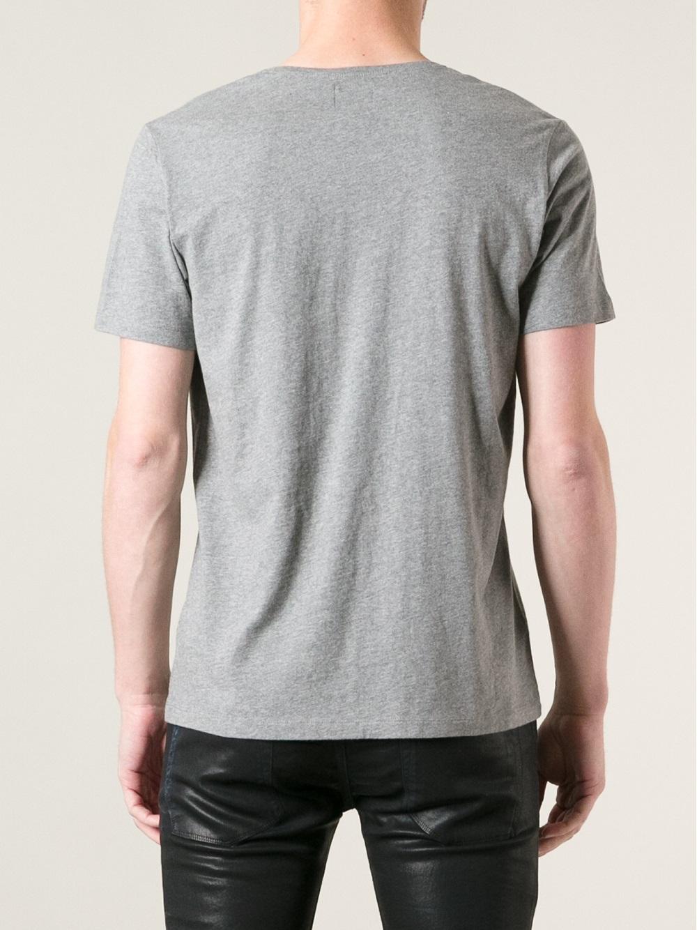 DIESEL V-Neck T-Shirt in Grey (Gray) for Men - Lyst