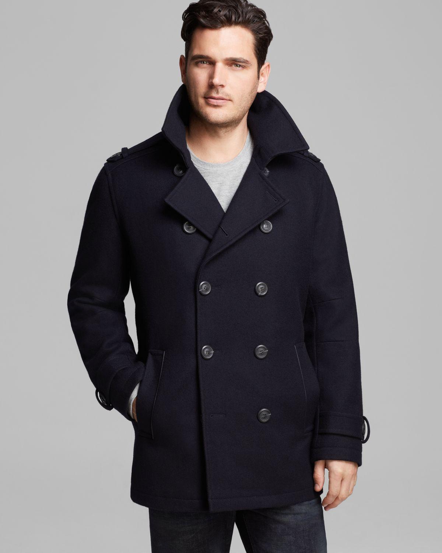 Navy Blue Pea Coat Men - Coat Nj